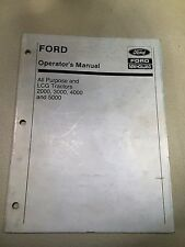 NEW HOLLAND Ford 2000 3000 4000 5000 All Purpose & LCG Tractor Operator's Manual