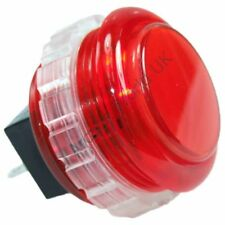 1 x Genuine Red Seimitsu PS-14-KN Screw In Arcade Button - 30mm Mounting Hole