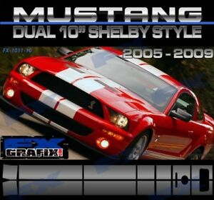 "2007 Ford Mustang Dual 10"" GT 500 Rally Stripe Kit 1# in Dealer Quality Stripes"