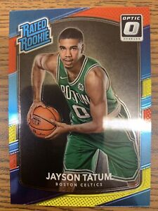 JAYSON TATUM - 2017 Optic Red / Yellow Prizm Rookie INVESTMENT- Boston Celtics