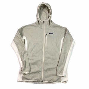 Patagonia Fleece Hoodie Zip Up Beige XL