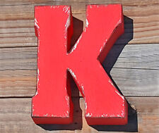 """ENTIRE ALPHABET 7"""" Metal Marquee Letters Vintage Style Sign Letter 15 COLORS"""