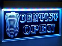 H003 Animated Dentist LED Open Sign Dental Clinic Medical Shop Teeth Neon Light