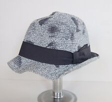 be56bc56ad9d53 NWOT Authentic PAUL SMITH Gray Braided Paper Trilby Fedora Summer Hat S