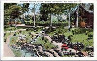 1921 San Diego California Miniature Japanese Gardens Mission Cliff Postcard DT