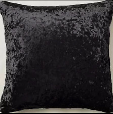 """Grey /Silver crushed velvet large 24""""/ 60cm super soft cushion cover piped"""
