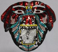 Sequin Patch: Aztec Monster Dog