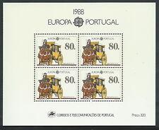 1988 EUROPA PORTOGALLO FOGLIETTO MNH ** - B