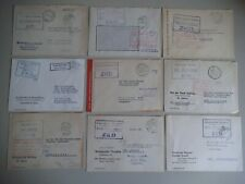 DDR  9 x ZKD- Briefe, , lesen