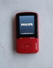 Philips GoGear 4Gb MP3 Player. MODEL SA4VBE04RF/12.