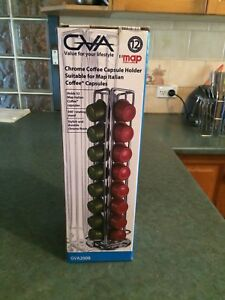 GVA Chrome Coffee Capsule Holder: Suitable for Map Italian Coffee Capsules