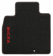 Genuine Nissan Micra 08/13 > in VELLUTO Auto Tappetino Set-Force Logo Rosso KE7551H30R