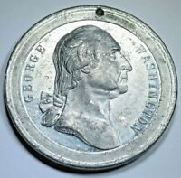 1889 George Washington Inaugural New York Wall St Medal Old Antique Token