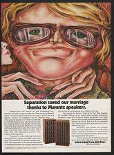 1974 MARANTZ Imperial 5G 2-Way Speaker - Seperation Saved My Marriage VINTAGE AD