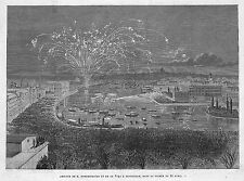 "STOCKHOLM "" RETOUR DE LA VEGA PROFESSEUR NORDENSKIOLD "" GRAVURE ENGRAVING 1880"