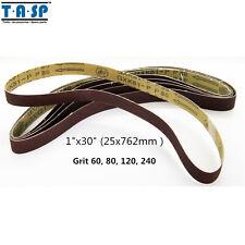 "TASP 5PC 1""x30"" 25x762mm Sanding Belt 60 80 120 240 Grit Belt Sander Power Tools"