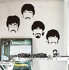 Art design vinyl home decoration Beatles wall sticker cartoon removable Decor