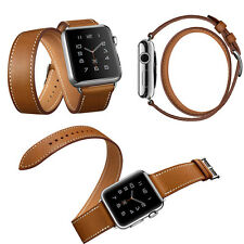 Leather watch Band Strap Bracelet Watchband For Apple Watch iWatch brown 42mm