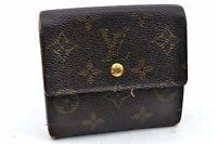 Auth Louis Vuitton Monogram Portefeuille Elise Purse Wallet M61654 LV A1529