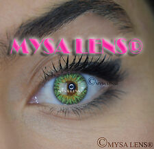 Colored Contact Lenses Kontaktlinsen Green K3012 Lens Color 1 Year MYSA LENS
