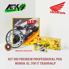Kit Trasmissione DID Pignone+Corona+Catena Honda Transalp XL 700 V 2007 al 2013