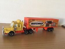 Matchbox Mattel Scania Cab With Articulated Trailer