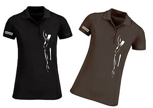 Equestrian Horse Silhouette Womens Polo by Lumipix, Gift for Mum, Aunty ETC!
