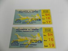New ListingVintage 1934 Temple vs Villanova Football Ticket Stubs Lot of 2
