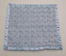 Baby Baby Blue Swirl Minky Satin Fleece Square Baby Security Blanket Lovey 16x16