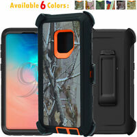 For Samsung Galaxy S9 / S9+ Plus Hard Case Camo Belt Clip Fits Otterbox Defender