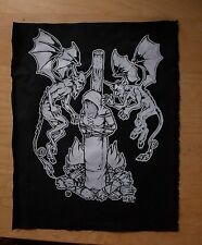 Burning Witch - occult black metal back patch by Mike Vivisector