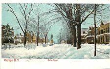 1901-07 Print Postcard Main Street Orange NJ in Snow Essex County Unposted