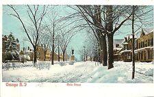 1901-07 Print Postcard Main Street Orange NJ in Snow Essex County Unposted