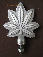 marijuana weed cannabis leaf  ratrod hotrod car hood ornament