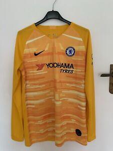 Nike Breathe Chelsea XL Boys  LS Goalkeeper Home Shirt Top