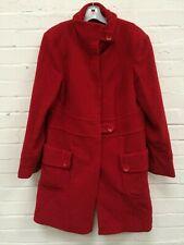 Ladies Next Red Wool Blend Button Winter Evening Coat Size UK 18 #R19-CF