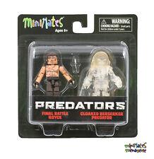 Predator Minimates Series 3 Final Battle Royce & Cloaked Berserker Predator