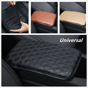 Universal Car SUV Armrest Pad Cover Center Console PU Leather Cushion Black Firm