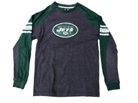 New York Jets Team Apparel Distressed Long Sleeve Shirt, Size Medium, Retro Look