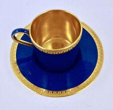 Antique Wedgwood Demitasse Cup & Saucer Powder Blue
