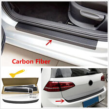 5 X 3D Carbon Fiber Look Car Door Pedal Tail Lip Protector Stickers Anti Scratch
