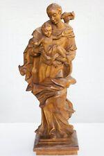 Wunderschöne Madonna mit Kind Holz-Skulptur 67 cm handgeschnitzt