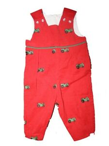 New Baby The Bailey Boys Tractor Corduroy Overalls Longall Romper Size 6 Months