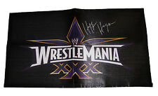 WWE WRESTLEMANIA 30 HULK HOGAN HAND SIGNED BANNER WITH COA FROM WWE