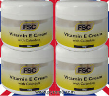 Vitamin E Cream with Calendula 100g by FSC Suitable for Vegans etc x 4