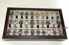 30 Watch (Premium Series) 1 Level Ebony Display & Storage Case Box + Gift