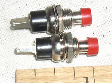 2 NEW MINI SMALL RED 3 AMP 3A A N/O HOBBY TRAIN PUSHBUTTON PUSH BUTTON SWITCH US