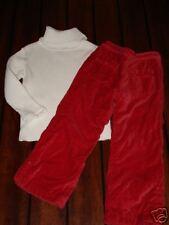 Chelsea's Corner Ivory Sweater Baby Gap Red Pants 4 EUC