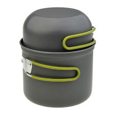 New Aluminum Lover Survival Camping Cook Set Cookware Pot