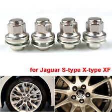 M12x1.5 Alloy Wheel Nuts Lug Bolts Studs Flat Chrome For Jaguar S-type X-type XF